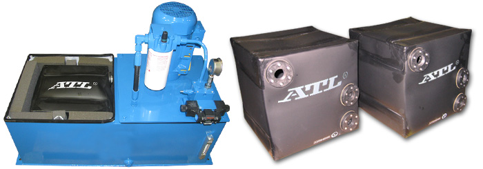 This Hydraulic Power Unit is part of a lifting system –  HPU - Flexible Fluid Bladders