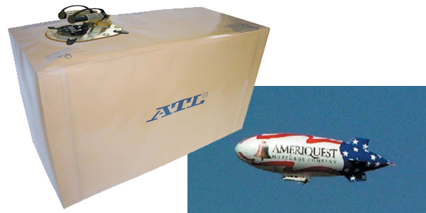 NEWS RELEASE: ATL PRODUCES CUSTOM FUEL BLADDERS FOR NEW AMERIQUEST BLIMP
